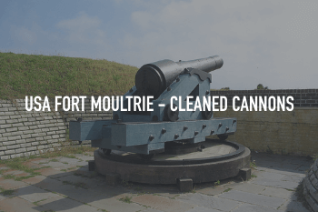 Fort Moultrie - Historic Metal Ordnance Cleaned with ThermaTech