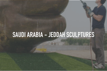 Saudi Arabia - Jeddah Sculptures cleaned with ThermaTech